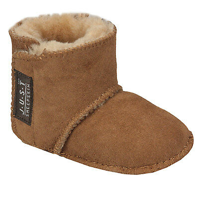 Girls Just Sheepskin Adelphi Baby Booties in Brown - 0-6m From Get The Label