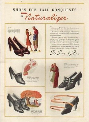 1939 Womens Naturalizer Shoes~30s Fashion~Brown Shoe Company St. Louis MO Ad