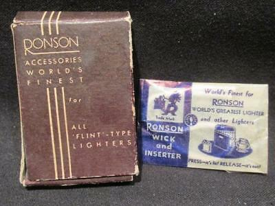 Ronson Vintage Accessories Packet incl Ronson Wick with Inserter VF & New