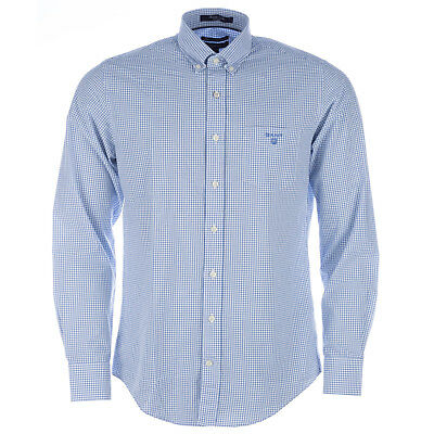 Mens Gant Bowery Poplin Stripe Shirt In Yale Blue From Get The Label