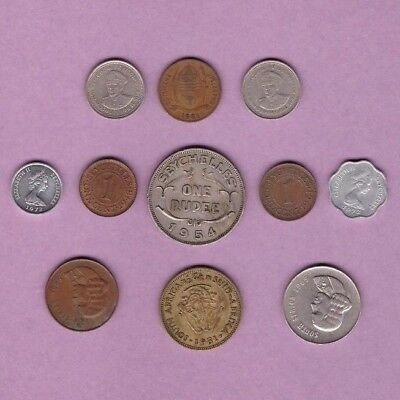 Botswana, Lesotho, Seychelles & South Africa - Coin Collection Lot - Africa