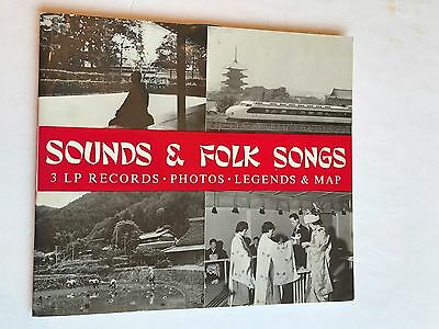 1965 Japan: Sounds and Folk Songs 3 LP records