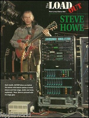 Steve Howe Yes Asia GTR with his Gibson ES Artist guitar stage gear 8 x 11 ad