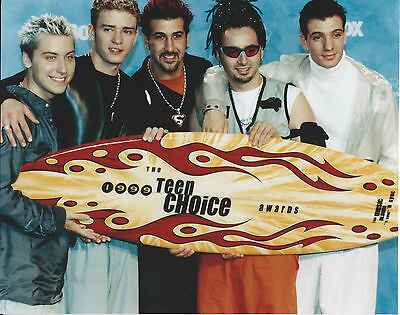 Nsync 8 X 10 Photo With Ultra Pro Toploader