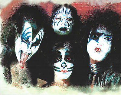 Kiss 8 X 10 Photo Art With Ultra Pro Toploader