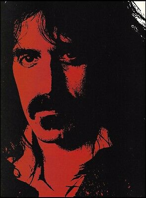 Frank Zappa 8 x 11 pin-up illustration photo trimmed and ready to frame