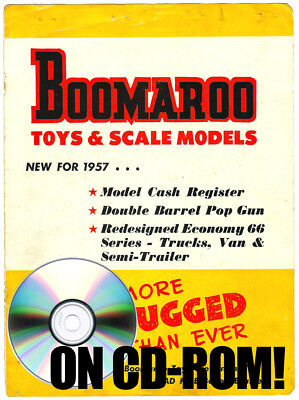 Vintage 1957 Boomaroo Australian Tin Toy Vehicle Catalog On Cd-Rom High Quality!