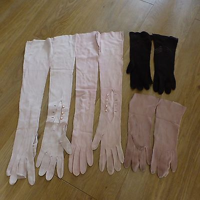 BUNDLE JOBLOT VINTAGE FRENCH GLOVES 11 pairs