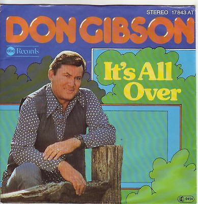 """7"" - DON GIBSON - It`s all over"
