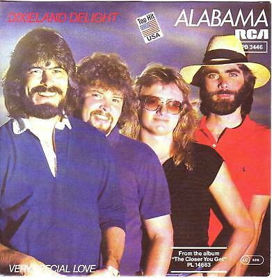 """7"" - ALABAMA - Dixieland Delight - sehr RAR !!!"