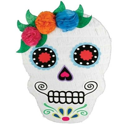 Sugar Skull Day Of The Dead Ghost Face Pinata Halloween Party Decoration P19721