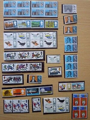 GB Stamps 1966-Collection of Unused Commemorative Sets