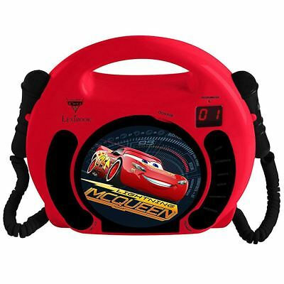 Disney Cars Cd Player With Microphones & Handle Kids Boys By Lexibook