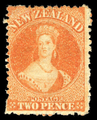 New Zealand 1872 QV 2d orange mint cat £170 ($230). SG 133. Sc 40.