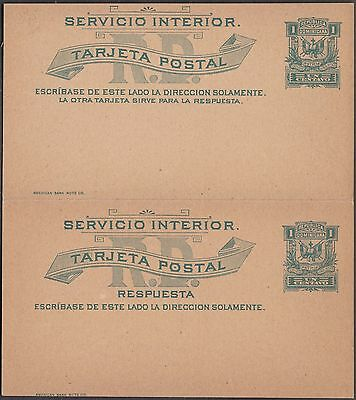 Dominica Republic 3 Unused / Unsevered Double Postal Cards