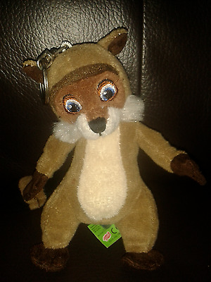 """5"""" Dreamworks OVER THE HEDGE RJ Raccoon Soft toy Keyring Gd Cond FREE P&P"""