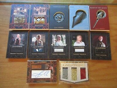 Game of Thrones Valyrian Steel Special Edition Near Master Set with Sketch
