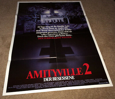 AMITYVILLE 2 Orig Movie Poster 1982 HORROR Haunted House Demon Possession