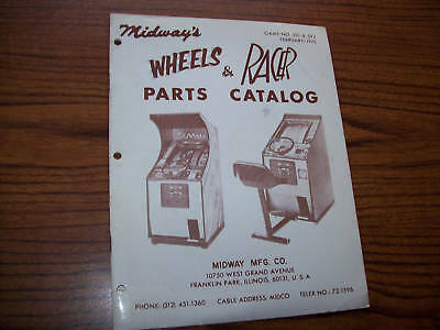 Midway Wheels & Racer Video Game Parts Catalog 1975