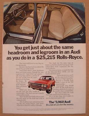 1972 Audi 100LS Roomy Interior / Squirt Soft Drink AD
