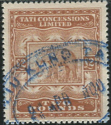 Bechuanaland 1896 Tati Concessions Duty Revenue £2 Used High Quality REPLICA