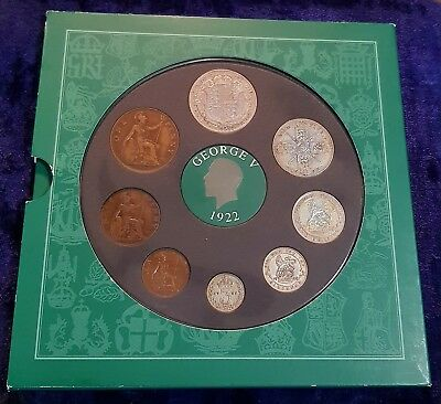 1922 Vintage 8 Coin Set Includes 5 Silver Presentation Pack 95Th Birthday Gift
