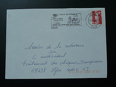 bicycle cycling Tour de France 1992 postmark on cover