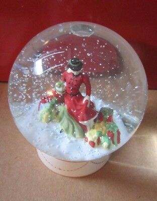 ROYAL DOULTON .. PRETTY LADIES .. SNOW GLOBE .. HAND MADE and DECORATED!