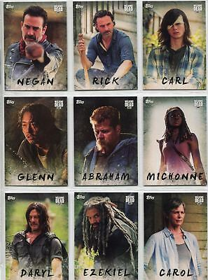 Walking Dead Season 7 Complete Character Chase Card Set C1-19