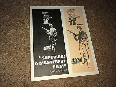 IF Movie Pressbook Herald 1969 Lindsay Anderson Counter Culture Comedy McDowell
