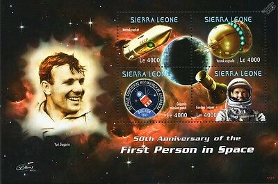 YURI GAGARIN/Gordon Cooper/VOSTOK Rocket/Spacecraft/First Man Space Stamp Sheet