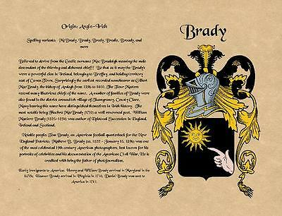 COAT OF ARMS and SURNAME ORIGIN - family crest on Archival Parchment - meaning