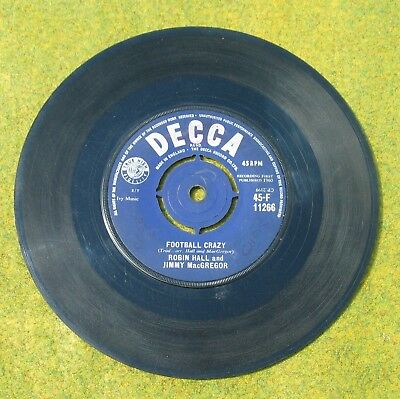 45rpm record : Football Crazy by Robin Hall & Jimmy MacGregor, Decca 1960