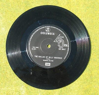 45rpm record : The Ballad of Billy Bremner by Ronnie Hilton 1971 - Leeds United