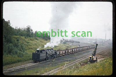 Original Slide, DM&IR 0-10-2 Steam #603 Freight Train Action 1957 Two Harbors MN
