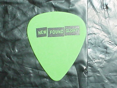 NEW FOUND GLORY Band Logo & 2003 Concert Civic Tour GREEN Fender GUITAR PICK
