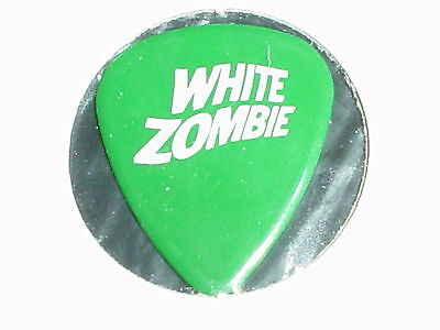 WHITE ZOMBIE Logo & Astro Creep Robot RaRe Green 1996 Concert Tour GUITAR PICK