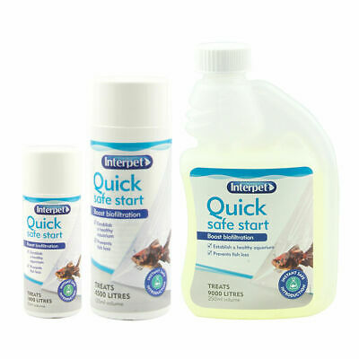 Interpet Quick Safe Start Aquarium Fish Tank Beneficial Filter Bacteria 50-250ml