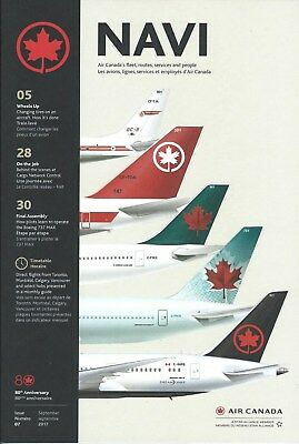 Airline Brochure - Air Canada NAVI - QR Timetable Seat Charts Route Maps - 09/17