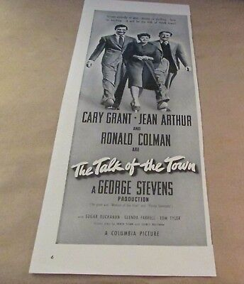 Movie Ad---THE TALK OF THE TOWN---<1942>---CARY GRANT
