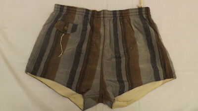 Vtg 60s NOS Swim Suit Sz M Very Cool Chromspun Acetate/Cotton Surf Shorts/Trunks