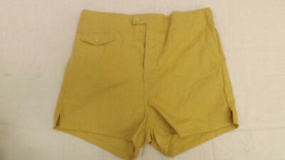 Vtg 60s NOS Welgrume Swim Suit Sz 32 Gold Cotton Surf Shorts/Trunks