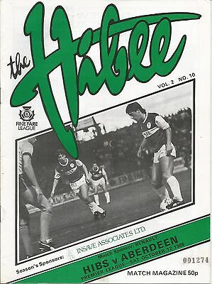 1985/86 League October Hibs v Aberdeen