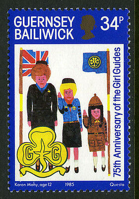 Guernsey 318, MNH. Girl Guides, 75th anniv. Child's drawing, 1985