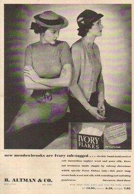 1937 B. Altman Department Store Ivory Laundry Soap 1930s womens Sweater Photo ad