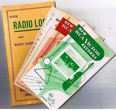 RCA Victor Record Brochures 1955 & 1957 Jackson Radio Log Folder Kitchener
