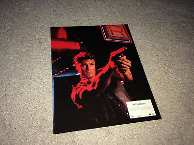 I COME IN PEACE Lobby Card Movie Poster 1990 Dolph Lundgren Sci-Fi Action D1