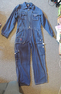 Tonino Lamborghini Safety Gear Jumpsuit Overalls One Piece Blue Large Coveralls