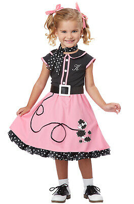 Grease 50's Poodle Skirt Dress Retro Cutie Toddler Costume