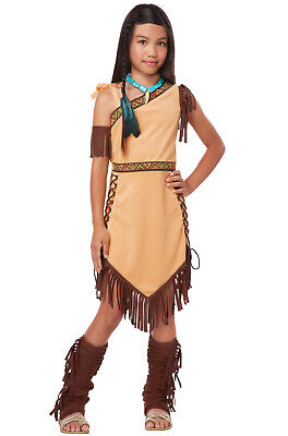 Indian Native American Princess Pocahontas Outfit Girls Child Costume